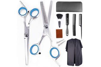11Pcs Professional Hair Cutting Scissors Set Haircut Scissors Thinning Shears Haircut Kit Multi-Use Hairdressing Scissors Hair Cutting Shears For Barber Salon Home Hair Shears for Women Men