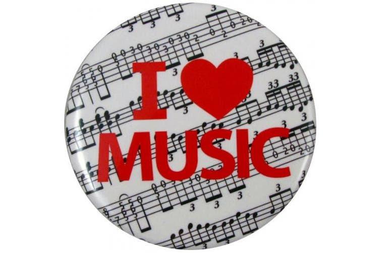 Button I Love Music