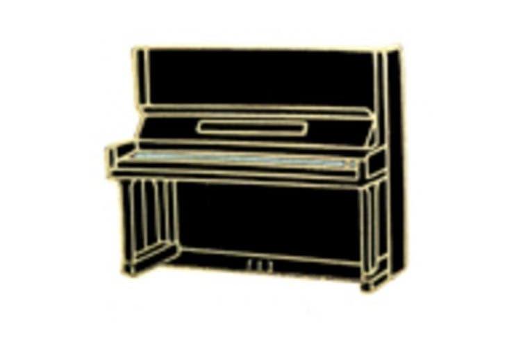 Mini Pin Upright Piano Black