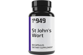 (400 mg) - St. John's Wort, Under 10 Dollars, 60 Capsules, Positive Mood, Emotional Health, No Additives & No Fillers, Lab-Tested Purity, Made in USA, Satisfaction . , 949*