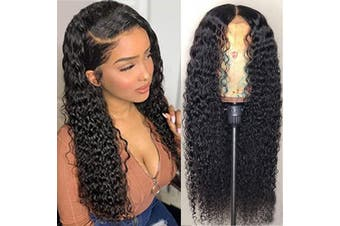 (22, deep wave 13*4 lace frontal wig) - BINF Hair Glueless 13X4 Lace Frontal Wig Deep Wave Human Hair Wigs with Baby Hair Pre Plucked Kinky Curly Wave Lace Frontal Wig for Black Women (22, deep wave 134 lace frontal wig)