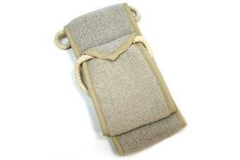 (Scrubber) - Aquis Exfoliating Back Scrubber, Linen, 10cm x 80cm