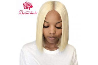 (20cm , 613 blonde 4x4 Wig) - Beauhair 613 Bob Wig Brazilian Straight Lace Front Wig Blonde Human Hair Wigs 4×4 Lace Front Bob Wigs 130% Density Pre Plucked With Baby Hair Virgin Human Hair (20cm )