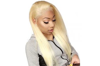 (46cm , 613 Straight Wig) - Beauhair 613 Blonde Straight Human Hair Wigs For Women With Baby Hair Lace Front Wigs Brazilian Virgin Human Hair Glueless Lace Wig(13×4 Lace Wig 46cm )