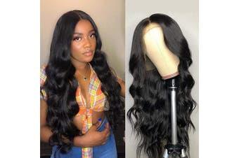 (36cm , Body Wave Wig) - Beauhair Brazilian Virgin 13x 4 Lace Front Wigs Body Wave Human Hair Wigs for Black Women 150% Density Natural Black Colour 36cm
