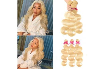 (24 26 28, 613 bundles) - 613 Bundles Body Wave 613 Blonde Bundles (24 26 28) 9A Brazilian 3 Bundles 613 Blonde 100% Human Hair Bundles 613 Honey Blonde Weave Hair Extensions for Black Women