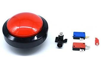 (Red) - Arcity 100mm Arcade Push Button LED Dome Illuminated with Microswitch for Jamma MAME Pop'n Music Game Machine Cabinet Red Durable New