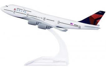 24-Hours Delta Boeing 747 Alloy Metal Aeroplane Models Die-cast 1:400