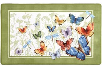 (46cm  x 80cm , Butterflies) - Achim Home Furnishings Butterflies Anti Fatigue Mat, 46cm x 80cm