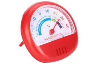 (Red) - Refrigerator Freezer Thermometer Large Dial Thermometer Mechanical 3 Colour(Red)