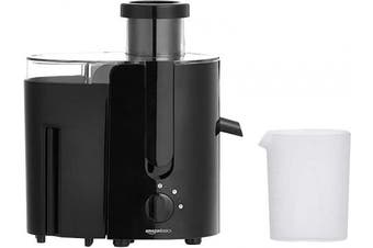 (Black) - AmazonBasics Wide-Mouth, 2-Speed Centrifugal Juicer with Juice Jug and Pulp Container, Black