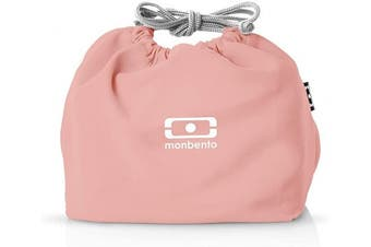 (Flamingo) - monbento - MB Pochette pink Flamingo Bento lunch bag - Polyester lunch tote - Suitable for MB Original MB Square & MB Tresor Bento boxes