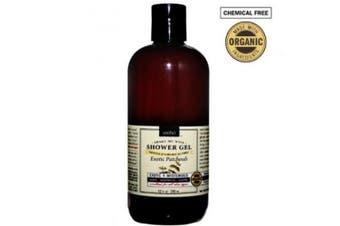 Organic Shower Gel and Creamy Body Wash for Dry skin - Patchouli 12floz/255ml