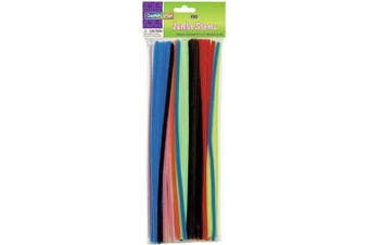 (1.9cm ) - Creativity Street Chenille Stems/Pipe Cleaners 12 Inch x 6mm 100-Piece, Assorted Colours