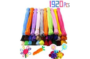 BEAUTOPE 1920 Pieces Pipe Cleaners Chenille Stems for DIY Art Craft (6 mm x 12 Inch,32 Colours)