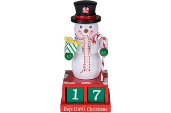 (10 - 6 Inch Snowman) - Clever Creations 24 Plus Day Snowman Advent Calendar Countdown to Christmas | Painted Numbers | Black Top Hat with Candy Cane & Gift | 100% Wood Construction | Unique Holiday Decoration | 15cm Tall