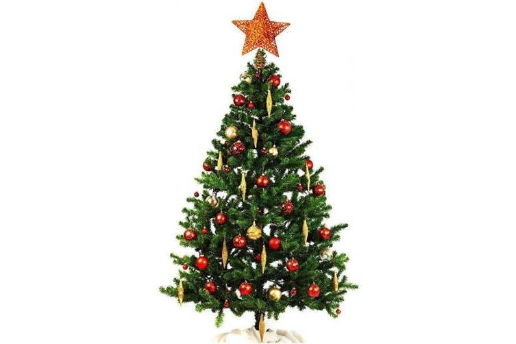 Gold Olen 20cm Rose Gold Tree Topper Metal Christmas Tree Topper Star For Christmas Top Tree Decoration Kogan Com