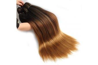 (70cm , 1B/30/27) - 8 Pcs Pre-Stretched Braiding Hair 70cm Braids Professional Yaki Synthetic Hair for Crochet Twist Black Brown Light Brown (70cm , 1B/30/27)