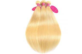 (18 20 22, 613 Bundles) - Brazilian 613 Straight Hair 100% Blonde Virgin Human Hair Weave Bundles 9A Grade 613 Colour Full Remy Hair Weave for Black Women(18 20 22,#613)
