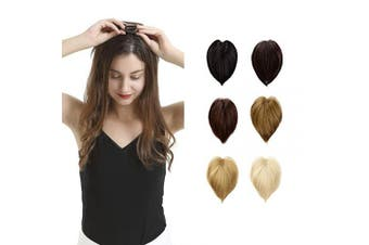 (30cm , 613# Bleach Blonde) - BARSDAR 30cm Human Hair Toppers for Women Silk Base Clip in Top Hairpiece Replacement Straight Toupee (613# Bleach Blonde)
