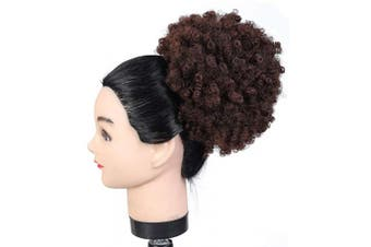 (#33) - Drawstring Afro Ponytail Short Synthetic Extensions Kinky Puff Ponytail for Women, Average Size, 33