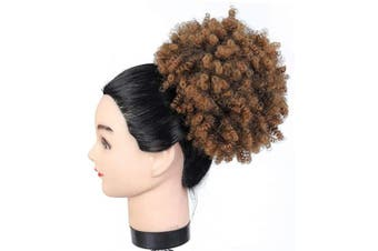 (#2/30) - Drawstring Afro Ponytail Short Synthetic Extensions Kinky Puff Ponytail for Women, Average Size, 2/30