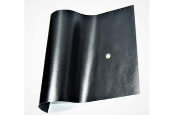 (12 x 24, Black Shiny) - ABE Leather HIDES Cow Skins Various Colours & Sizes (Black Shiny, 12 x 24)