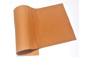 (12 x 12, Tan Woven) - ABE Leather HIDES Cow Skins Various Colours & Sizes (Tan Woven, 12 x 12)