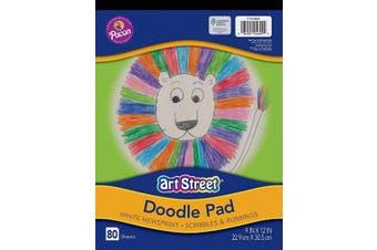 (White) - Pacon Art Street Doodle Pad, White, 23cm x 30cm , 80 Sheets
