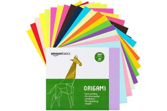 (1.95 Pounds) - AmazonBasics Origami Paper, Assorted Colours, 500 Sheets