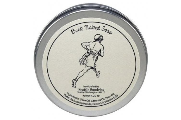 Buck Naked Soap - 100% Natural & Handmade, in Reusable Travel Gift Tin