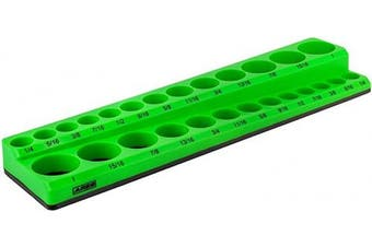 (1cm  Drive, Green) - ARES 60007 - Green 26-Piece 1cm SAE Magnetic Socket Organiser - Holds 13 Standard Size and 13 Deep Size Sockets - Keep Your Tool Box Organised