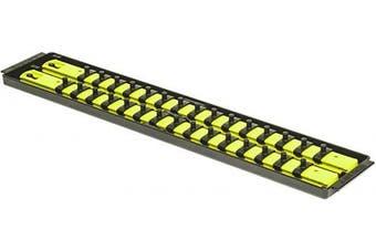 (48cm  0.6cm  Drive, High-Visibility) - Ernst Manufacturing 8461HV Socket Boss 2-Rail, 0.6cm -Drive Socket Organiser, 48cm , High-Visibility