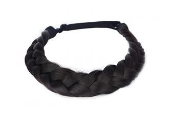 (A011-2) - Coolcos Hair Braid 5 Strands Braids Hair Headbands Plaited Braided Elastic Synthetic Chunky Stretch Wig Women Beauty Accessory (A011-2)