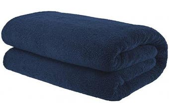 (Oversize Bath Towel 100cm  x 200cm , Navy Blue) - American Bath Towels, 40x80 Soft and Absorbent 650 GSM Premium Hotel and Spa Quality Oversized Organic Turkish Cotton Bath Sheet Towel, Navy Blue