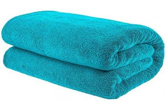 (Oversize Bath Towel 100cm  x 200cm , Aqua Blue) - American Bath Towels, 40x80 Soft and Absorbent 650 GSM Premium Hotel and Spa Quality Oversized Organic Turkish Cotton Bath Sheet Towel, Aqua Blue