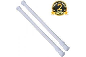 (41cm  - 70cm -2PCS, White) - 2PCS Spring Curtain Rods 41cm - 70cm Shower Tension Rod White Spring Curtain Rod Adjustable Curtain rod Expandable Curtain Rod Pressure Curtain Rod Spring Loaded Curtain Rods Bars Tensions Rod