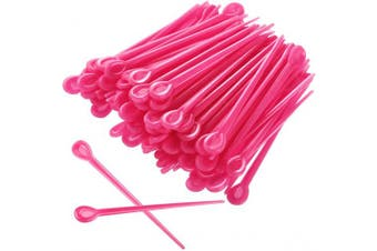 (Red) - 180 Pieces Brush Roller Pick Plastic Roller Pick Hair Curler Roller Pin for Hair Curling Styling Accessories (Red)