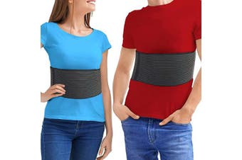 (L/XL (90cm  - 120cm )) - Rib Brace Chest Binder – Broken or Cracked Rib Belt to Reduce Rib Cage Pain. Chest Compression Support for Rib Injury, Fractured Rib, Bruised Rib or Rib Flare Breathable Chest Wrap Men Women (Lar/XL)