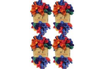 (4 Skeins, Circe) - BambooMN Finger Knitting Yarn - Fun Finger Loops Yarn - 100% Polyester - Circe - 4 Skeins