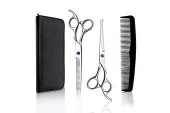 (red) - Professional Hair Scissors Barber Shears 17cm Hair Cutting Scissors Salon Thinning Scissors for Women Men Kids,Salon, Home