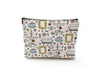 (M) - Friends Forever Friends TV Show Merchandise Friends Makeup Bag Cosmetic Bag for Friends Fans … (M)