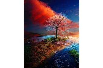 Z-Home DIY 5D Colour Tree Diamond Painting Set Kits for Adults Kids 30x40cm Full Drill Arts Craft Canvas Cross Stitch Embroidery Mosaic Kit for Home Wall Decor
