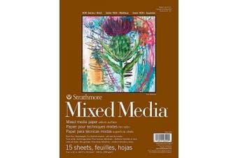 (23cm  x 30cm ) - Strathmore 400 Series Mixed Media Pad, 23cm x 30cm , White, 15 Sheets