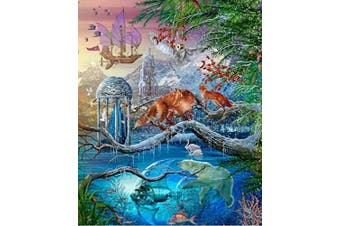1000 Piece Jigsaw Puzzle - Mysterious Snow Mountain-Lake Garden in Winters for Kids Adult Teens Reduced Pressure Toy Fox Swan Polar Bear Fish Art Wall Hanging