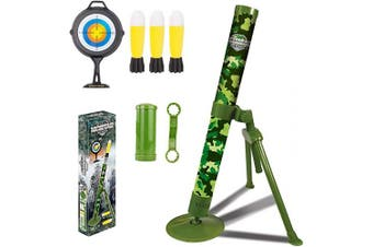 ABCaptain Mortar Military Launcher Toy, Shooting Game Blaster Missile, Foam Rockets for Youth, Teens, Adults