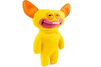 Fuggler, Funny Ugly Monster, 23cm Grin Grin (Yellow) Plush Creature with Teeth, for Ages 4 and Up
