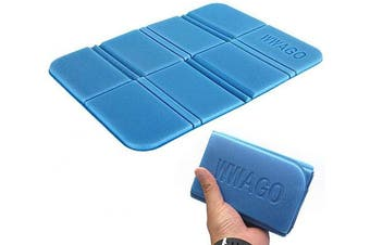 Nuluxi Foldable Seat Cushion Foam Seat Mat Multifunction Waterproof Foam Seat pad Multifunction Portable Camping Foam Pad Light Weight & Convenient Fit for Camping, Picnic, Barbecue(2 Pieces, Blue)