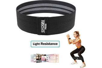 (Large(42cm )) - SYOSIN Resistance Bands, Non-Slip Exercise Bands for Legs and Butt, Fabric Bands with Cooling Towel & Carry Bag & Exercise Guidelines for Pilates (Small Level)