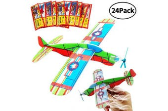 BESTZY Gliders Planes ,Plane Glider, Foam Gilder Plane,Glider Plane Toy Gliding Aeroplanes for Children as a Prize and a Present for The Children's Birthday (Glider Plane 24P)